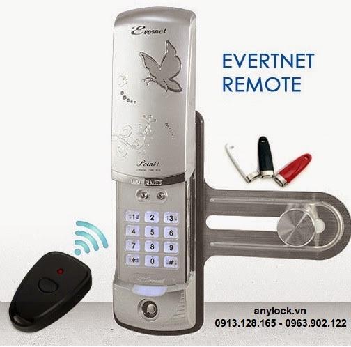 Khóa cửa kính Evernet Remote